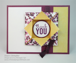 Painted Blooms Origami Shadowbox Card Fun Fold HSDT video series by Dawn Olchefske #dostamping #stampinup